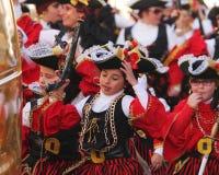 Παιδί που έχει τη διασκέδαση σε καρναβάλι Στοκ εικόνες με δικαίωμα ελεύθερης χρήσης