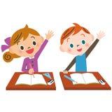 Παιδί που αυξάνει το χέρι καλά Στοκ εικόνες με δικαίωμα ελεύθερης χρήσης