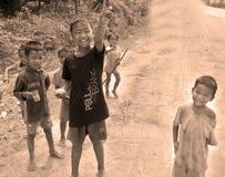 παιδί που ζει στους δρόμους Στοκ Φωτογραφία