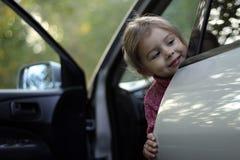 Παιδί σε ένα αυτοκίνητο Στοκ Εικόνα