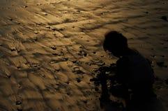 Παιδί σκιαγραφιών Στοκ εικόνα με δικαίωμα ελεύθερης χρήσης