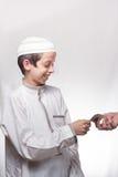 Παιδί στα αραβικά ενδύματα Στοκ εικόνα με δικαίωμα ελεύθερης χρήσης