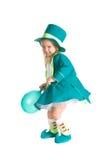 Παιδί στα κοστούμια leprechaun, ημέρα του ST Πάτρικ Στοκ Εικόνες