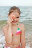 Παιδί στην παραλία, Κριμαία Στοκ Εικόνες