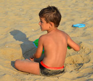 Παιδί στην παραλία Στοκ Εικόνες