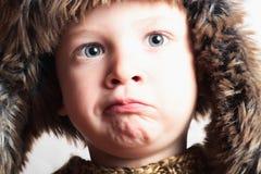 Παιδί στη γούνα hat.fashion.winter style.little boy.children Στοκ φωτογραφίες με δικαίωμα ελεύθερης χρήσης