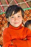 Παιδί στο πουλόβερ στο Κιργιστάν Στοκ εικόνα με δικαίωμα ελεύθερης χρήσης