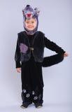 Παιδί στο φανταχτερό φόρεμα Στοκ Εικόνες