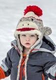 Παιδί στο χιόνι Στοκ Εικόνες