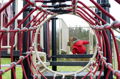 Παιδί στο playgroung Στοκ Εικόνες