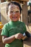 Παιδί φυλής Padaung, το Μιανμάρ Στοκ Εικόνες