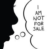 Παιδί όχι για την απεικόνιση σκιαγραφιών πώλησης στοκ εικόνα