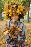 Παιδί Autamn Στοκ Εικόνα