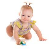 Παιδί ballerina λίγα Πορτρέτο του όμορφου ευτυχούς μωρού Στοκ Φωτογραφία