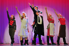 Παιδιά από τη χορεύοντας ομάδα Στοκ Εικόνες