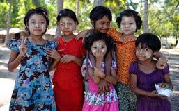 Παιδιά από Ngwe Saung, το Μιανμάρ Στοκ Εικόνα