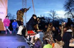 Παιδιά Βάρνα Βουλγαρία καρναβαλιού στοκ εικόνες