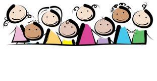 Παιδιά εμβλημάτων Στοκ φωτογραφία με δικαίωμα ελεύθερης χρήσης