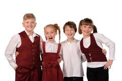 παιδιά ευτυχή από κοινού Στοκ εικόνες με δικαίωμα ελεύθερης χρήσης