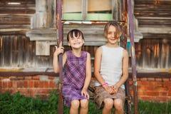 Παιδιά ευτυχή υπαίθρια Στοκ Εικόνα