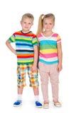 παιδιά ευτυχή δύο Στοκ εικόνα με δικαίωμα ελεύθερης χρήσης