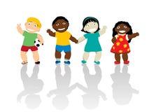Παιδιά ευτυχή απεικόνιση αποθεμάτων