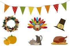 Παιδιά ημέρας των ευχαριστιών ελεύθερη απεικόνιση δικαιώματος