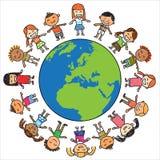 Παιδιά και γη Στοκ Εικόνες