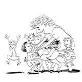 Παιδιά και παραμάνα ή δάσκαλος Στοκ Εικόνες