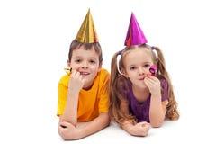 Παιδιά Κόμματος - που απομονώνονται στοκ φωτογραφία