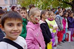 Παιδιά με τα χρωματισμένα πρόσωπα Στοκ Εικόνα