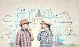 Παιδιά με το mustache Στοκ Φωτογραφία