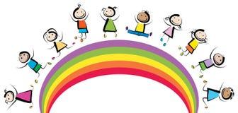 Παιδιά ουράνιων τόξων ελεύθερη απεικόνιση δικαιώματος