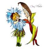 Παιδιά λουλουδιών Στοκ Εικόνα