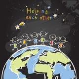 Παιδιά που βοηθούν το ένα το άλλο Στοκ φωτογραφία με δικαίωμα ελεύθερης χρήσης