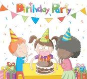 Παιδιά που γιορτάζουν τα γενέθλιά τους Ελεύθερη απεικόνιση δικαιώματος