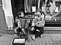 Παιδιά που ζουν στους δρόμους Στοκ Εικόνα