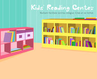 Παιδιά που διαβάζουν το δωμάτιο Στοκ Εικόνα