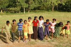 Παιδιά που παίζουν σε Andamans Στοκ Εικόνες