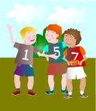 Παιδιά που παίζουν το ράγκμπι Στοκ Εικόνες