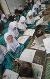 Παιδιά που σύρουν το σχέδιο μπατίκ Στοκ Φωτογραφίες