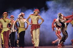Παιδιά που χορεύουν στη σκηνή Στοκ Εικόνα