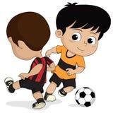 Παιδιά ποδοσφαίρου κινούμενων σχεδίων ελεύθερη απεικόνιση δικαιώματος