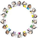 Παιδιά σε έναν κύκλο Στοκ φωτογραφία με δικαίωμα ελεύθερης χρήσης