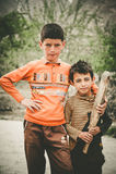 Παιδιά σε ένα χωριό στο νότο Skardu, Πακιστάν Στοκ Εικόνες