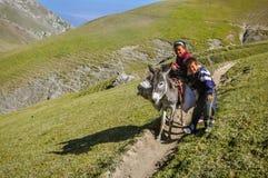 Παιδιά σε Arslanbob στο Κιργιστάν Στοκ φωτογραφία με δικαίωμα ελεύθερης χρήσης