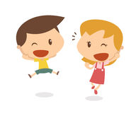 Παιδιά στη δράση Ευτυχής Στοκ Εικόνα