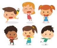 Παιδιά στις διαφορετικές ενέργειες Στοκ Εικόνες