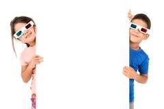 Παιδιά στους κινηματογράφους Στοκ Φωτογραφίες