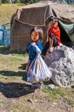Παιδιά στο Κιργιστάν Στοκ Εικόνες